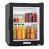 Klarstein MKS-12 - Minibar, Mini-Kühlschrank, Getränkekühlschrank, E, 24 Liter, ca. 38 x 47 x 38 cm (BxHxT), 30 dB leiser Betrieb, schwarz