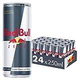 Red Bull Energy Drink Zero Calories Dosen Getränke Zuckerfrei 24er Palette, EINWEG (24 x 250 ml)