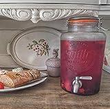 5 Liter Getränkespender von Smith's Mason Jars mit Stahlkegeln, Blockdrahtgeflecht und Geschenkanhänger. Es ist der ultimative Getränkekühler